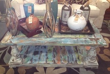 Brittney English Designs / Made by Brittney English right in our store!  Her pieces are one of a kind! / by Ross Furniture