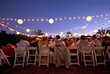 fiesta. / emphasis on table arrangements, decoration and lighting at parties