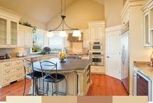 Paint Colors for Kitchens / Add flavor to the walls in your kitchen with paint color!