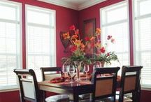 Dining Room Paint Palettes / Color scheme ideas for dining rooms. Stylish Dining Room paint color schemes and paint color inspiration for your Dining Room renovation or Dining Room redecorating project.  / by PPG Voice of Color