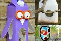Don't bin... re-use it! / Recycling and re-using old clothes and objects can be a fun way to create something new!