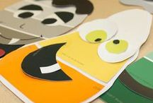 Halloween Paint Chip DIY Crafts / Halloween Themed Paint Swatch, Paint Chip & Stripe Card DIY Crafts: Create DIY crafts & projects using paint chips, swatches and stripe cards!