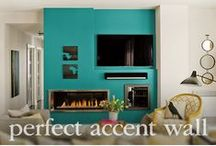 Perfect Accent Wall Paint Colors / Having trouble deciding on what color your accent wall should be? Discover inspiration from our perfect accent wall paint colors that will be sure to add depth to your space. / by PPG Voice of Color