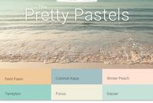 Pretty Pastels Palette / The Pretty Pastels assortment of color harmonies are perfect for applications that call for a soft and soothing spirit. These colors offer a subtle and gentle experience. While seemingly feminine at first glance, the harmonies are actually quite versatile- especially for the architectural and tech industries. / by PPG Voice of Color