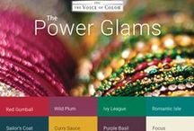 Power Glams Color Palette / The Power Glam color harmonies are strong and daring paint color combinations - fantastic for making a big statement.  / by PPG Voice of Color