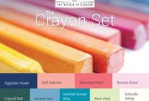 The Crayon Set Color Palette / The Crayon Set Color Palette is  a  playful and childlike color harmony. Tender and delicate color harmonies are great for spaces geared towards younger audiences. This harmony of intense hues lends itself well to teens and young adults.