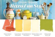 Retro Fun Paint Color Inspiration / Retro fun style is perfect for high-energy individuals who love to experiment with color & vintage looks, without taking it too seriously.  This is a go BOLD or go home palette loaded with saturated citrus hues borrowed from the 50s, 60s, & 70s. Rediscover your playfulness with this Retro paint color palette!