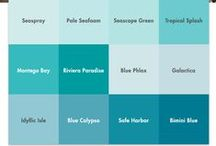 Aqua, Turquoise and Teal Paint Colors / Fresh aquatic inspired paint color hues!  Aqua paint colors offer a soothing and relaxing feeling to any room. Use this color group as accent colors to feel the subtle effects of rejuvenation, increased creativity and empathy in your space.