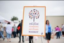 Farmer's Market - Old Towne Orange / We have 2 Farmer's Markets in Old Towne Orange, but my fave is the Saturday morning market put on by Orange Home Grown. Love that local flavor!