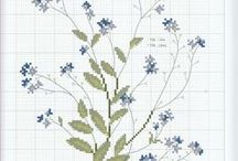 Cross Stitch / Country, Primitive, Samplers, Flowers,  Patterns