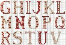 Cross Stitch ♡ Alphabets