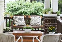 the great outdoors. / gardens, porches, and yards i love.