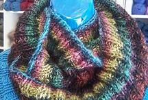 Knit: Adult :Cowls, hats, etc