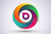 initial logo circle shape - colorful icon for your application / http://www.shutterstock.com/gallery-3810161p1.html