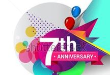 ANNIVERSARY logo colorful geometric design / https://www.shutterstock.com/g/Vectorideas/sets/48439691