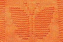 knit wash cloths cotton
