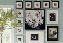 Gallery Walls / I love art when it is grouped together, especially black and white prints. Some galleries to inspire you.