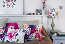 Floral Designs in Interior design / Interiors using floral patterns in fabrics, wallpaper or accessories