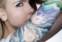 tattoo inspirations / watercolour / brush stroke / paint-style / feminine / flowers / nature / mountains