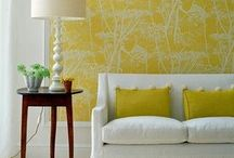 Accent Colours, texture and Pattern in Interiors / Wallpaper, paint and more used as an accent in interior design