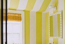 Stripes / Interior design ideas with stripes, decor, fabrics, wallpapers etc / by Lee Caroline  - A World of Inspiration