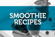 Smoothie Recipes / Making a smoothie is an easy way to increase your protein and produce consumption! And if you're like me and don't like fruit...it's a great way to sneak it into your everyday!