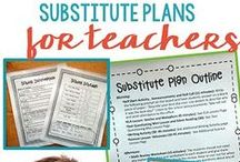 Emergency Sub Plans / Tips for both teachers and substitute teachers to make sub days as painless as possible!