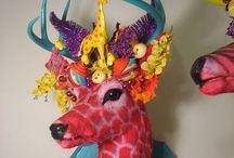 Anthropomorphic/Taxidermy Art / Wild creatures.