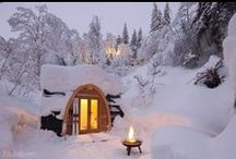 Winter Inspiration / It's that time of year - when the world (or the Northern Hemisphere, at least) transforms into a winter wonderland. Here's Pitchup.com's picks of the most picturesque cabins for curling up in as the snow comes down, as well as some of our favourite sites for escaping the winter weather altogether. You can also check out our tips for camping in the cold and even where to catch up with Santa and his reindeer.   / by Pitchup.com