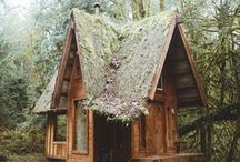 Cabins / cabin, cabins, cabin love, a-frame, forest, woods, cabin in the woods, outdoors, rugged, travel, escape, explore, PNW, Pacific Northwest, mountains