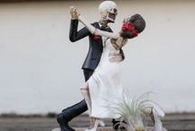 Rock & Roll Weddings / Rock & Roll Wedding Theme featuring skulls and skeletons, dark rich colors and radical wedding elements! Check it out!
