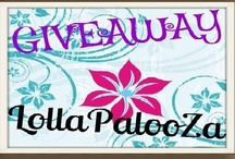 Giveaway Lollapalooza / Pin Your Current Giveaways Here!  A great place for all of us to post and promote Giveaways! Prizes! Hops and MORE!   Help promote yours and others giveaways by repinning, tweeting, sharing and ENTERING!  ***not yet a member of this board? wish you could pin here too?  email me ~ I'll send you a personal invite ~ momloves2read@gmail.com!