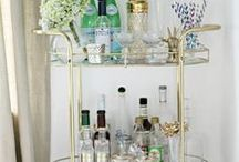 bar cart / Ideas and inspiration for an at home bar cart. A place to store all our ever growing spirit collection (all of the gin).