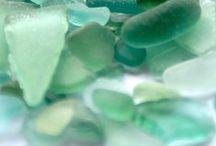 Sea Glass / Sea Glass blues and greens