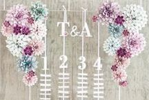 Escort Cards, seating plans + table numbers