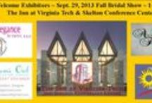 Sept. 29th NRV Fall Bridal Show / Come out and join us ~ https://www.facebook.com/events/100179423467262/ http://nrvbridalsandevents.org/exhibitors-and-door-prizes/