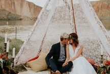 Bohemian Wedding Ideas / For the boho bride inspired by rustic, organic, and beauty of nature. Inspiration for the wedding day decorations, outdoor wedding venues, and comfortable wedding dresses.