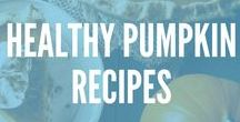 Recipes: Healthy Pumpkin / I'm obsessed with pumpkin everything ...cooking and baking with pumpkin is easy and healthy! Try our favorite pumpkin flavored drinks, desserts, and recipes.