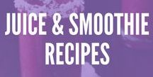 Recipes: Juice and Smoothies / Juice and smoothie recipes are so healthy and easy! Squeeze in extra fruits and veggies with these quick breakfast and post-workout smoothie recipes we LOVE!