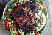 not sweet- salads / by Allie Mrakovich