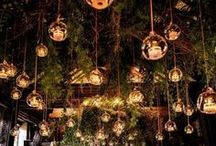 Twinkling Wedding Lights / Creative ways to use lights and candles that add glamour and romance to your wedding reception.