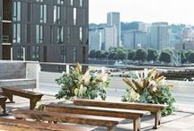City Chic Wedding / Wedding Ideas for the sophisticated Carrie Bradshaw city bride. Contemporary and Modern City Wedding Inspirations and ideas.