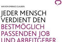 embrace / Hier dreht sich alles um www.embrace.medienfabrik.de, die Employer Branding und Personalmarketingagentur, deren GF ich bin.