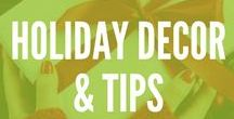 Holiday Decor & Tips / Fab holiday decor and tips for every holiday! Our favorite holiday pins an decorating ideas to make you the host with the most.