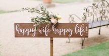 Wedding Signs / Cute DIY wedding signs to celebrate your big day and to guide your guests in the right direction for the wedding reception.
