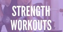 Strength Workouts / Strength workouts are key to a strong body! Muscle burns more calories at rest than fat, so rev that metabolism and get lean with these fun GHU strength workouts!