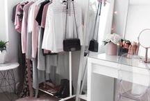 Wardrobe / Wardrobe, closet, clothing, makeup vanity, beauty room, accessories, walk-in, inspiration, storage, organisation, ideas
