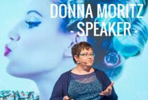 Donna Moritz - Speaker / Are you looking for a dynamic, engaging speaker on the topics of visual social media, content strategy and digital content? Talk to Donna's team today about hiring her for your next event. Check out our speaker page and listen to and watch some of the presentations on this board - podcasts, interviews and presentations. http://sociallysorted.com.au/speaking/