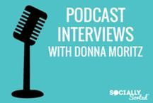 Podcast Interviews | Donna Moritz / Interviews with Awesome Podcasts featuring Donna Moritz and Socially Sorted