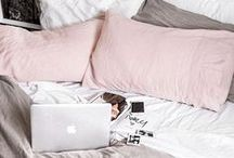 Bedroom / Bedroom design and decor. Quilt covers, pillow, bedroom interior decorating, homewares, home decor, pretty, inspiring bedrooms.